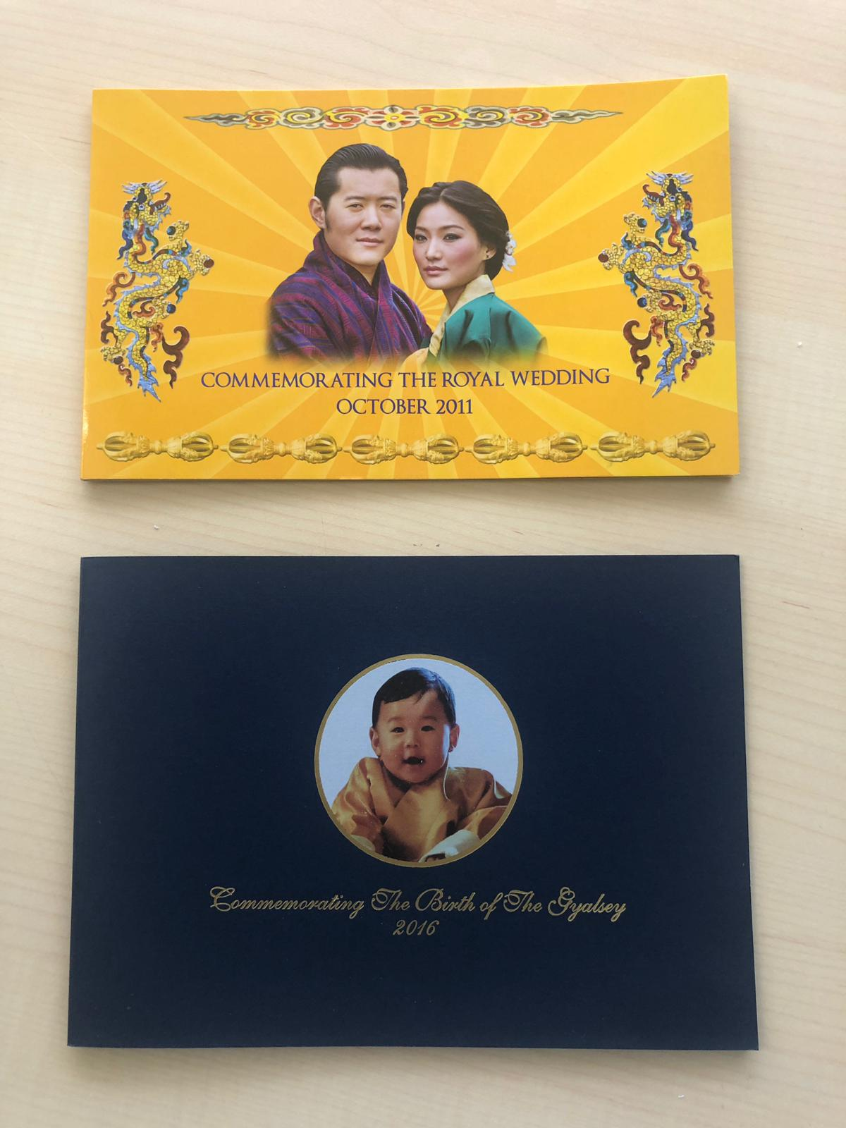 Inside look of commemorative notes issues by the Royal Monetary Authority